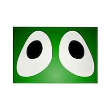 Green Blob Eyes Rectangle Magnet