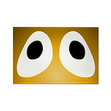 Orange Blob Eyes Rectangle Magnet