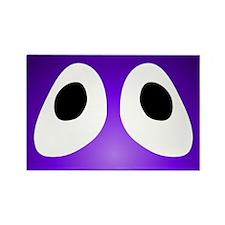 Purple Blob Eyes Rectangle Magnet