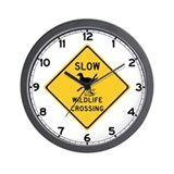 Slow Wildlife Crossing, Australia Wall Clock