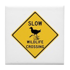 Slow Wildlife Crossing, Australia Tile Coaster