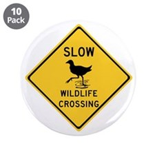 "Slow Wildlife Crossing, Australia 3.5"" Button (10"
