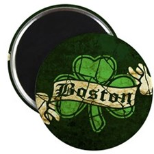 Retro Boston Shamrock Magnet