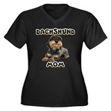 Wirehaired Dachshund Mom Women's Plus Size V-Neck