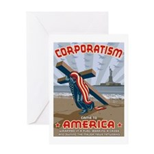 Corporatism Greeting Card