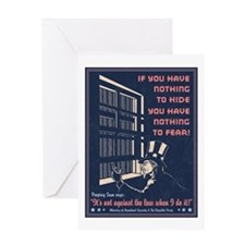 Peeping Sam Greeting Card