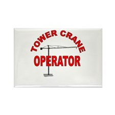 Unique Crane operator Rectangle Magnet