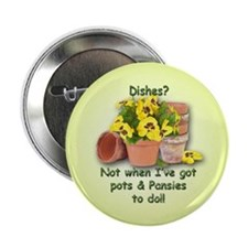 "Pots & Pansies 2.25"" Button (100 pack)"