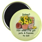 Pots &amp; Pansies Magnet
