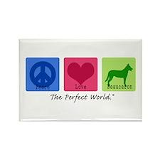 Peace Love Beauceron Rectangle Magnet