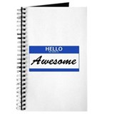 Hello My Name is Awesome Journal