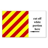 US Naval Flag Code Yankee Decal