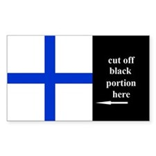 US Naval Flag Code Xray Sticker (50 pk)