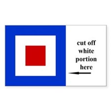 US Naval Flag Code Whiskey Decal