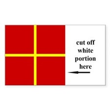 US Naval Flag Code Romeo Sticker (50 pk)