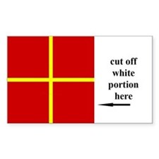 US Naval Flag Code Romeo Decal