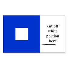 US Naval Flag Code Papa Decal