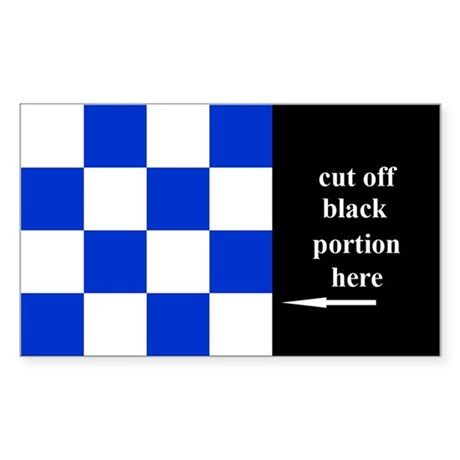 US Naval Flag Code November Sticker