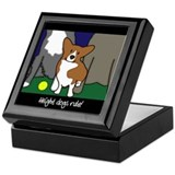 Corgi Height Dog Keepsake Box