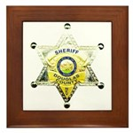 Douglas Sheriff Framed Tile
