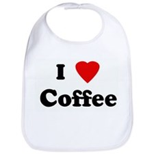 I Love Coffee Bib