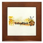 VolleyChick Angie Framed Tile