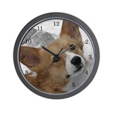 Snow Corgi Wall Clock