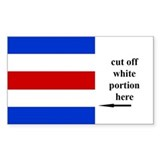US Naval Flag Code Charlie Decal