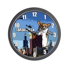 Corgi-zilla Wall Clock