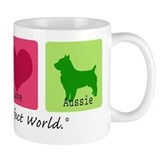 Peace Love Aussie Small Mugs