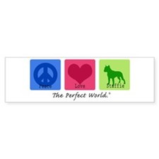 Peace Love Staffie Bumper Sticker (10 pk)