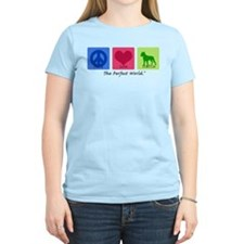 Peace Love Staffie T-Shirt