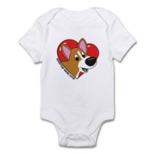 Cartoon Corgi Love Infant Bodysuit
