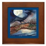 Moonlight Crow Raven Framed Tile