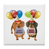 Doxie Birthday Tile Coaster