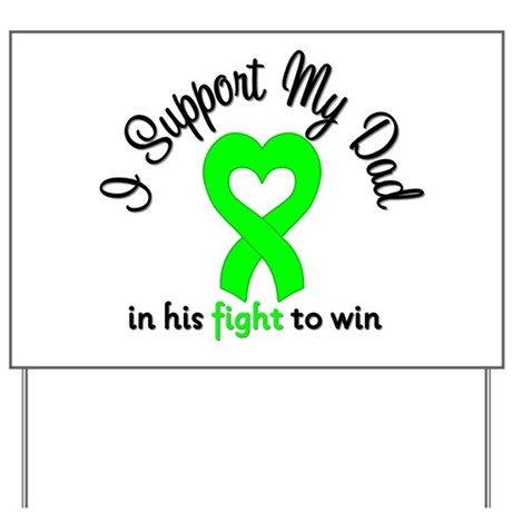 Lymphoma Dad Support Yard Sign