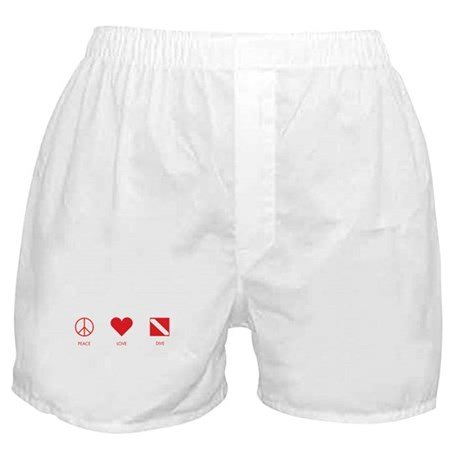 Peace Love Dive Boxer Shorts