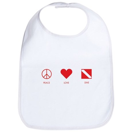 Peace Love Dive Bib