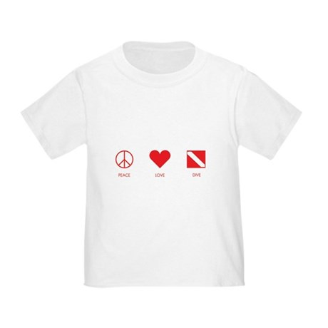 Peace Love Dive Toddler T-Shirt