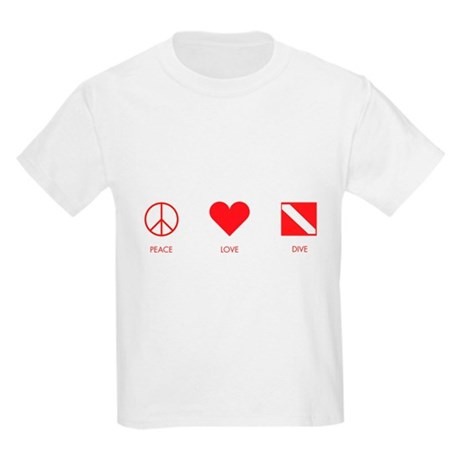 Peace Love Dive Kids Light T-Shirt