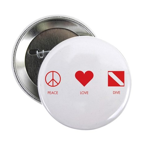 "Peace Love Dive 2.25"" Button"