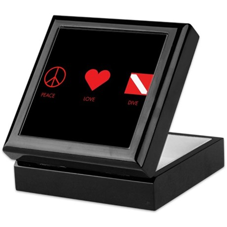 Peace Love Dive Keepsake Box