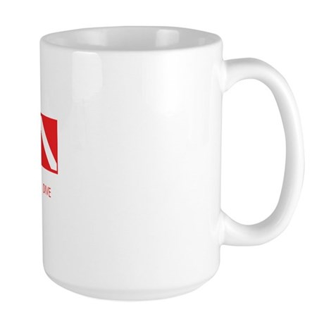 Peace Love Dive Large Mug