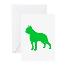 Boston Terrier St. Patty's Day Greeting Cards (Pk