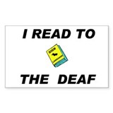 DEAF READER Rectangle Decal