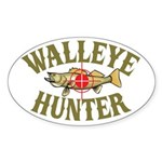 Walleye Hunter Oval Sticker
