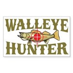 Walleye Hunter Rectangle Sticker