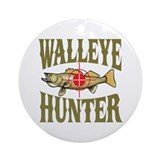 Walleye Hunter Ornament (Round)