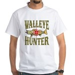Walleye Hunter White T-Shirt
