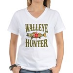Walleye Hunter Women's V-Neck T-Shirt